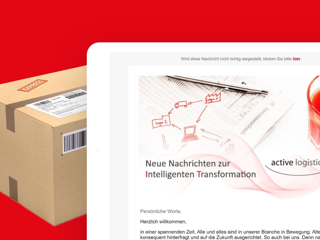 Referenzprojekt active logistics: E-Mail-Marketing – ADDVALUE