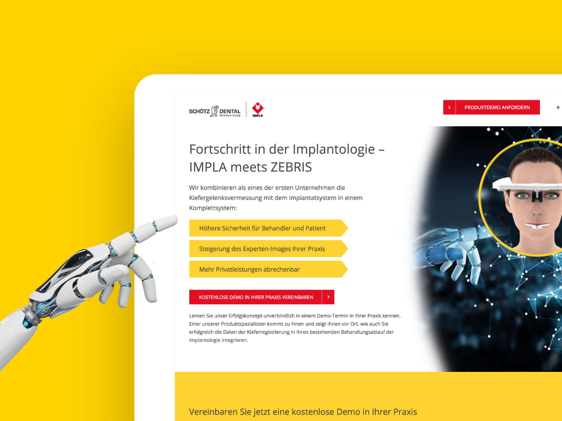Referenzprojekt Schütz Dental: Landing Page – ADDVALUE