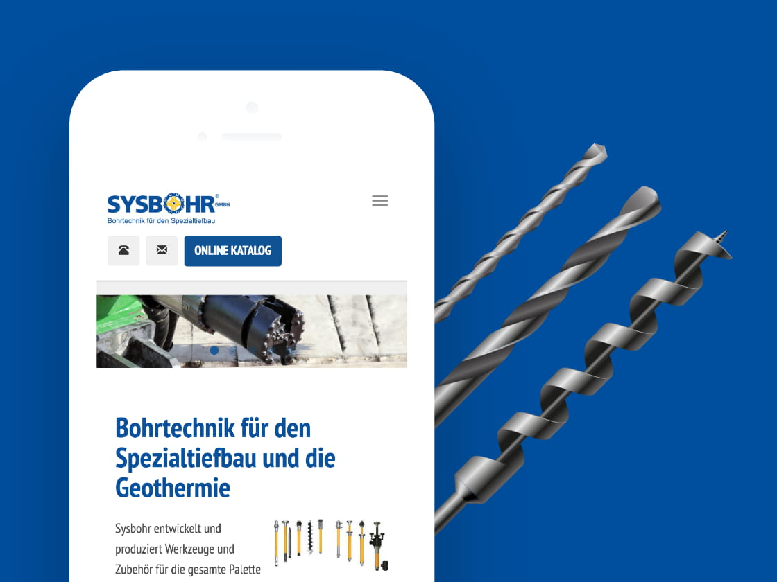 Referenzprojekt Sysbohr: Website – ADDVALUE